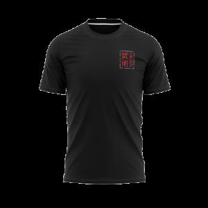 Distressed Kanji T-Shirt Black